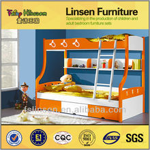 8815A mais recente cama de casal projeta, Mobiliário infantil em crianças camas, Fábrica de móveis