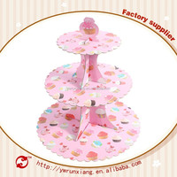 Wholesale party decorations fancy mini paper cardboard cupcake stand