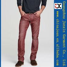 2013 rojo elegante palm color <span class=keywords><strong>jeans</strong></span> para hombres capa color <span class=keywords><strong>jeans</strong></span> denim de hombres (JXC30831)