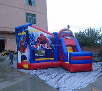 2015 hot kids inflatable spider man bouncy castle