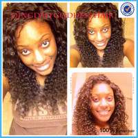 Hot loose curly 6A Glueless full lace wig&lacefront wigs brazilian virgin hair with baby hair for black women