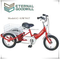"12"" Children reverse trike / delivery tricycl single speed kids trike 150cc reverse trike/GW7017"