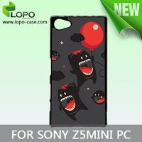DYE sublimation hard PC case for Sony Z5 MINI