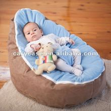 relaxing baby beanbag chair, tlue top baby beanbags, indoor home bed for baby