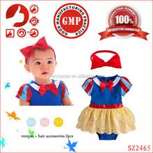 Hot sale summer baby girl romper dress/cosplay baby romper/baby romper dress with headband