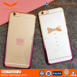 New Crystal phone case for iphone 6 tpu case with China supplier