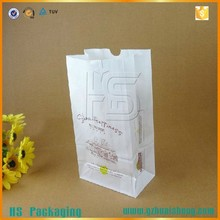 food grade take away foldable French fries paper bags for bread