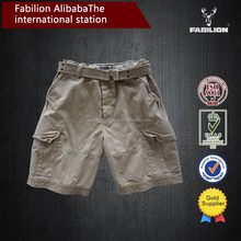 China alibaba wholesale high quality mens canvas fabric shorts with belt for cargo pants