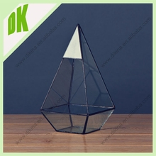 Our geometric terrarium will fit seamlessly with home surroundings, wholesale Handblown handmade geometric terrarium glass cover
