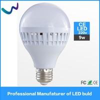 China made 9W led light bulb CE ROHS SMD 2835 B22 led bulb 220V for home/office use
