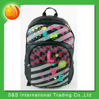 stock fashionable and large capacity school laptop backpack