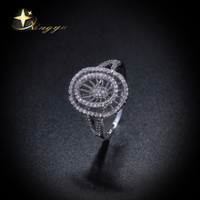 Hot new deisgn ring plating platinum with cz, wholesale brass rings for women, factory price of rings for Brazil XYR101133