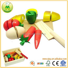 Popular Happy Game Cutting Fruit Wood Toy Kitchen