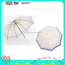 46'' 8ribs dot design long umbrella good quality straight umbrella Self-opening Straight Umbrella