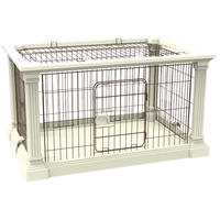 White Color Pet Cage S M Size Easy to Carry Cat Cage