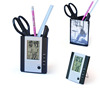 Hairong Digital alarm clock pen holder LCD table clock