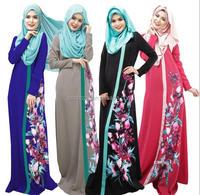 Z51959B Latest design muslim women's dress slim Arab abaya islamic women long sleeve maxi dress