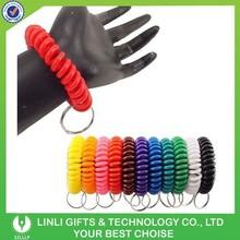 Colorful advertising spring cord keyring