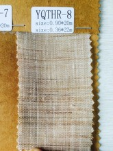 ramie$cotton combine woven plain fabric