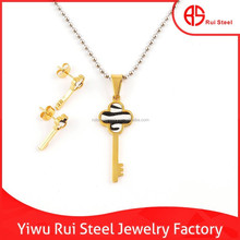 Wholesale 316l stainless steel thailand costume key jewelry manufacturer