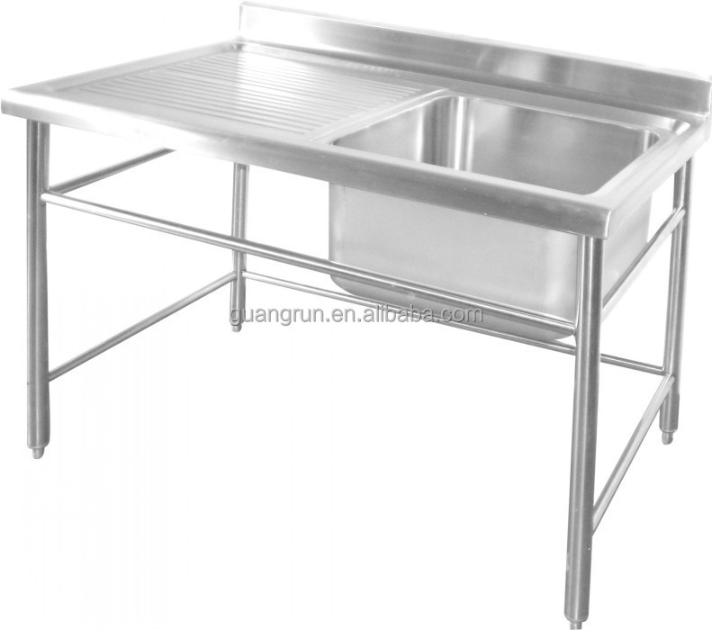 Used Free Standing mercial Stainless Steel Kitchen Sink