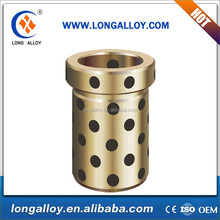 Oil free guide tin bronze bushing with Graphite