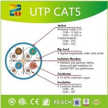 china excellent quality Internet cable Cat5e UTP Cable pure copper 24AWG(0.51mm) 305m/box ,PVC/LSZH jacket ,100 MHz , Fluke Test