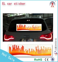 wholesale is available !new design equalizer EL Car Sticker with low power consumption