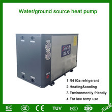 Central cooling and heating air conditioner heat pump ground
