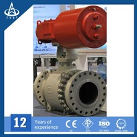 gear operated ball valve oil and gas pipeline