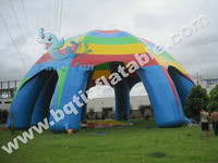Colorful and attractive inflatable outdoor spider tent