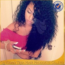 Hot sale high quality full cuticle glueless full lace /lace front virgin mongolian curly wig