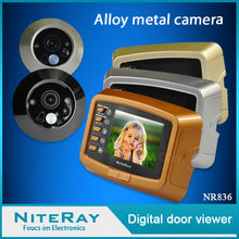 "3"" LCD monitor IR doorbell digital door peephole viewer camera"