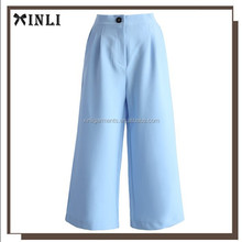 Latest design casual pants women pure color half pants for women