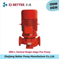1.5kw XBD-L vertical fire pump ul fm /high pressure water pump for fire engine/fire fighting pumps