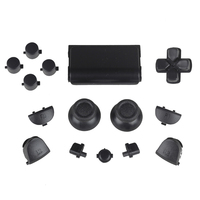 Black Solid Full Set Buttons Replacement For PS4 Wireless Controller For Playstation 4