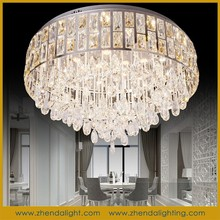 fashion crystal lights and lighting &big size led ceiling light & crystal chandeliers with champagne gold crystal flowers