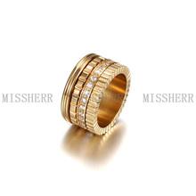 Alta calidad anillo de acero inoxidable 316L de engranajes de plata anillo de metal NSR057STGC