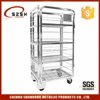 best selling salt spray test passed dairy milk transport roll cage trolley