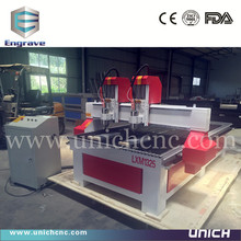 Unich high technology two spindles cnc machine/mini cnc engraving machine with price