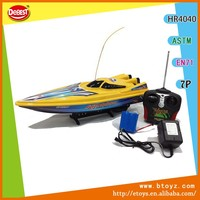 Kids Toy 4 Channel Plastic Boat , RC Boat , Speed Boat