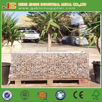 CE Mark 2x1x0.5m Garden stone wall welded wire mesh gabion box/ basket (china factory)