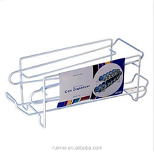 White Organized Living 12 Can Beverage Dispenser Toptable Iron Shelf