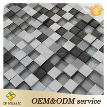2015 Moroccan Style Stainless Steel Mix Iridescent Glass Mosaic Tile