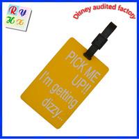 Hot sale luggage tag, custom fashion bags handbag tag luggage tag with card insert