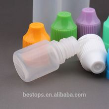 Supply 10 ml pe e-liquid bottles double twist funnel cap and Packing lid for e.cigarettes juice Free Shrink Film