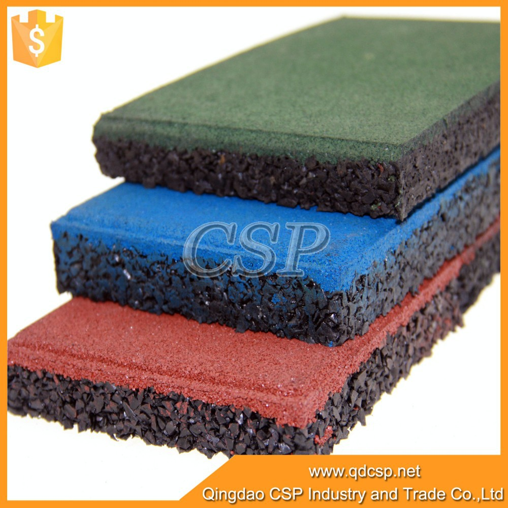 Driveway recycled rubber pavers rubber brick buy for Construction piscine caoutchouc