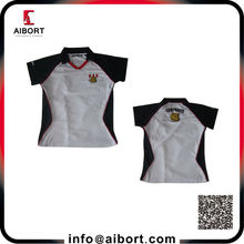 Women polo shirt with embroidery logo