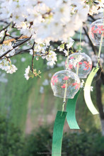 Japan Glass Wind Bell Japan Sakura Festival Glass Bell Wind Craft Ornament