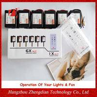 Smart Home Automation System Of Remote Control Light Switch For Light And Fan With Speed Control